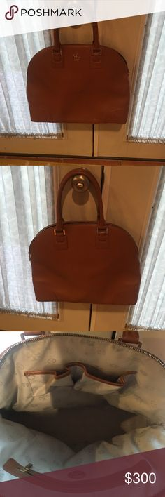 Tory Burch Purse Tory Burch Robinson Dome Satchel. Brown. Minor wear but still in great shape Tory Burch Bags Satchels