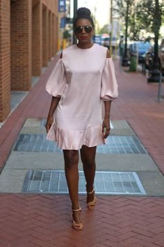 DIY cut out shoulder silk dress – Beaute' J'adore
