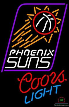 Coors Light Phoenix Suns Neon Sign NBA Teams Neon Light