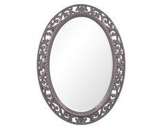 Howard Elliott Suzanne 27 x 37 Glossy Charcoal Grey Wall Mirror