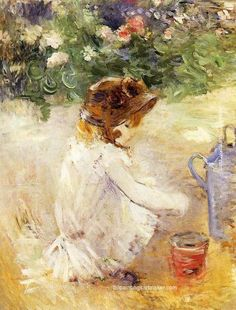 Berthe Morisot Playing in the Sand, 1882, painting Authorized official website