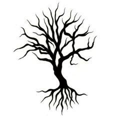 Tree Of Life Tattoo Designs | Black Tree Tattoo Design - TattooWoo.com