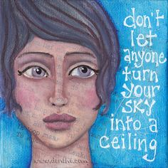 """Miniature-painting with quote by denthe, 10x10cm (4""""x 4"""")"""