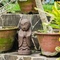 [Handmade] Volcanic Ash Dwelling Buddha Statue (Indonesia) - Free Shipping Today - Overstock.com - 16652697 - Mobile