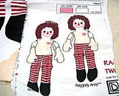 Raggedy Ann and Andy Dolls Printed Panel