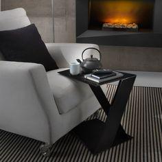 (1) Fancy - Black Side Table