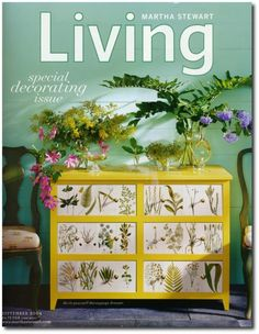 DIY on how to make this dresser How To Decorate With Botanicals