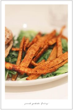 Fried Potatoes, Sweet Potato, Carrots, Fries, Food And Drink, Vegetables, Recipes, French Fries Crisps, Chips