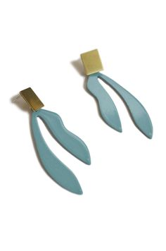 palm_earrings_vintageteal3.jpg, long stud earrings