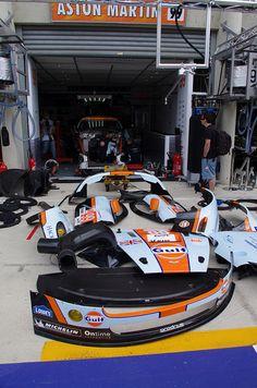 Aston Martin Vantage V8 in Pieces - Le Mans 24h 2012