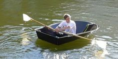 "Max Frommeld and Arno Mathies,students at the Royal College of Art,London has designed a""Foldboat""."