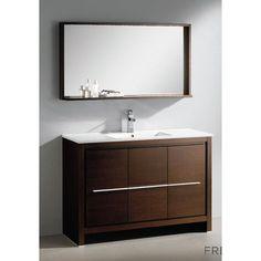 "Fresca Allier 47.5"" Modern Bathroom Vanity Set with Mirror | AllModern"