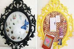 Ikea-Hacks: Rahmen als Ohrringhalter oder Pinnwand