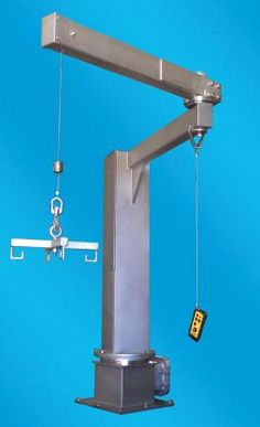 Lift & Hoist International: Stainless Steel Articulating Jib Crane Available for #Pharmaceutical #Manufacturing