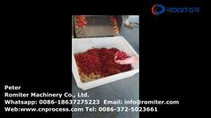 Automatic Chili Pepper Long Slice Cutting Machine for Sale