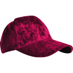 d0376a02d7680 Wine Red Outdoor Adjustable Velvet Baseball Hat ( 5.11) ❤ liked on Polyvore  featuring accessories
