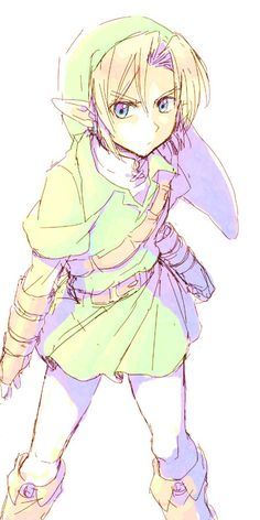 While TP Link is my favorite, I think the design of OoT's Link is the most brilliant design for a elf-ish character ever.