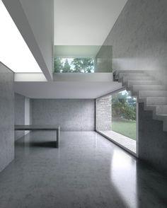 Playing with Concrete, rendering Visualisation, Design Concrete Interiors, 3d Architecture, 3d Max, 3d Rendering, Cgi, 3d Design, Exterior Design, Marble, Stairs