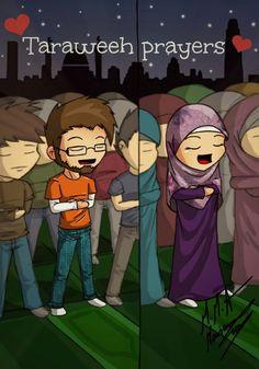 we pray taraweeh Ramadan Activities, Ramadan Crafts, Cute Muslim Couples, Islamic Cartoon, Anime Muslim, Islam For Kids, Love In Islam, Cartoon Sketches, Cartoon Art