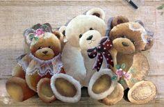 Teddy bears painting