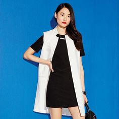 To create a cool and trendy contrast, layer this chic white waistcoat over a simple LBD. A white, sleeveless and sleek open waist coat. Regularly $48.00, shop Avon Fashion online at http://eseagren.avonrepresentative.com