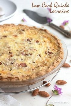 Wholesome ingredients and farm fresh flavors make this low carb quiche Lorraine a rich and satisfying meal whether served at breakfast or for lunch. Keto and grain-free.