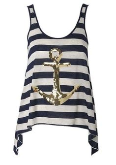 I want a top with an anchor on it... It's adorable!