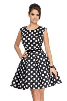 Rochie Dottie Neagra   Rochii seara Unique Dresses, Dresses For Work, Dress Me Up, Fashion Accessories, Polka Dots, Feminine, Glamour, Gowns, Couture