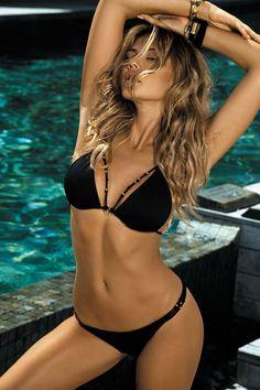 Triangle sexy swimwear women bathing suit Solid plus size swimsuit separete female Push up string bikini 2019 summer biquini XL Sexy Bikini, Bikini Swimwear, Bikini Set, Women Bikini, Halter Bikini, Bikini Bottoms, Plus Size Swimsuits, Women Swimsuits, Bikinis String