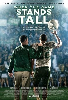 When the Game Stands Tall by Neil Hayes. Nonfiction book, film due out August Starring Alexander Ludwig, Jim Caviezel, Laura Dern. Jim Caviezel, Hd Movies, Movies To Watch, Movies Online, Movies Free, Streaming Movies, See Movie, Film Movie, Movie List