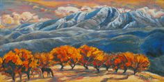High Mountain Orchard Painting by Gina Grundemann