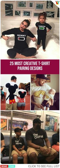 25 Most Creative T-Shirt Pairing Designs meta de vida The post 25 Most Creative T-Shirt Pairing Designs appeared first on Design Diy. Funny Outfits, New Outfits, Funny Memes, Hilarious, Pregnant Couple, Funny Photos, Funny Tshirts, Shirt Designs, T Shirt