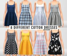 Clothing: Cotton Dresses Set from Pure Sims • Sims 4 Downloads