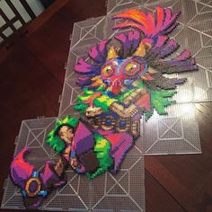LoZ Skull Kid perler beads by natescreenprints
