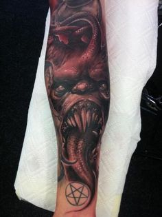 skull forearm half sleeve tattoo by Tommy Lee Wendtner: TattooNOW : Half Sleeve Tattoos Forearm, Half Sleeve Tattoos Designs, Full Sleeve Tattoos, Tattoo Forearm, Tattoo Designs, Evil Tattoos, Wicked Tattoos, Paradise Tattoo, Worlds Best Tattoos