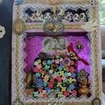 detail of Big Dia De Los Muertos Altared Book Assemblage art by Laura Pallatin of LaBelle Mariposa