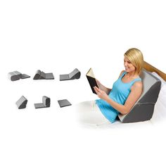 contour minimax bed wedge pillow in gray