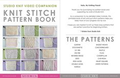 Knit Stitch Pattern Book by Studio Knit