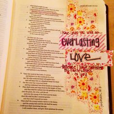 Everlasting Love. Jeremiah 31:3. Original art- J. Meier