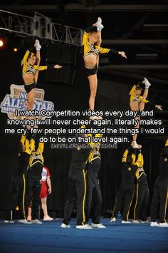 Cheerleading Confessions; True Story - my life right there !
