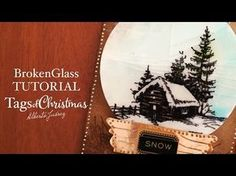 Fake embossing glass tutorial - Tags of Christmas 06 - YouTube