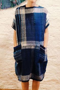 Japanese Saori weaving outfit