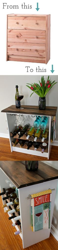 DIY Two Toned Wine Rack #IkeaHack