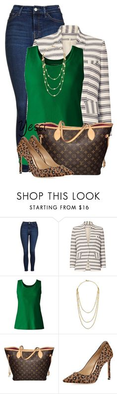 """""""~ 💕 Striped Coat/Jacket 💕 ~"""" by pretty-fashion-designs ❤ liked on Polyvore featuring Topshop, Veronica Beard, Lands' End, Tory Burch, Louis Vuitton and Jimmy Choo"""