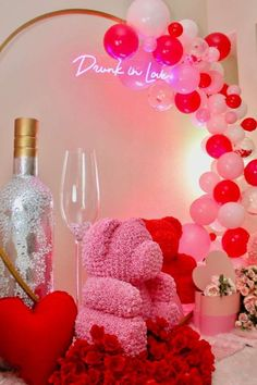 You are going to love this romantic bridal shower! Love the party decor! See more party ideas and share yours at CatchMyParty.com #catchmyparty #partyideas #bridalshower #valentinesday #love Bridal Shower Cakes, Bridal Shower Party, Wedding Shower Drinks, Drunk In Love, Valentines Day Party, Balloon Decorations, Babyshower, Shower Ideas, Birthday Ideas