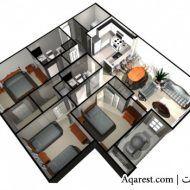 تصاميم بيوت صغيرة 150 متر House Floor Design Family House Plans Architectural House Plans