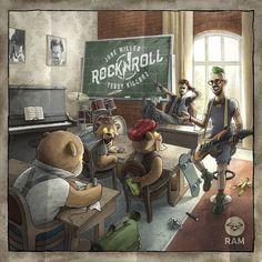 "Cover art for @junemillermusic x @teddykillerzofficial ""Rock'n'Roll/Wildlife EP"" @ramrecords 2016 #junemiller #teddykillerz #rocknroll #wildlife #school #cometoteddy #teddybears #creative #cover #digitalart #digitalpainting #art #illustration #ramrecords"