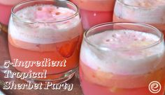 This is the perfect party punch to get together quickly and easily. Must remember for all the baby showers & weddings showers coming up this summer. #punch #shower