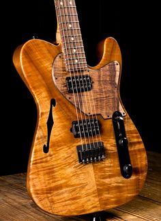Suhr Classic T Custom Roasted Alder/Curly Koa - Natural Gloss Guitar Body, Music Guitar, Guitar Amp, Cool Guitar, Acoustic Guitar, Telecaster Custom, Telecaster Guitar, Fender Guitars, Bass