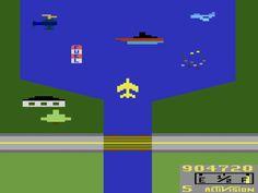 River Raid Atari 2600 game by Activision, 1982.